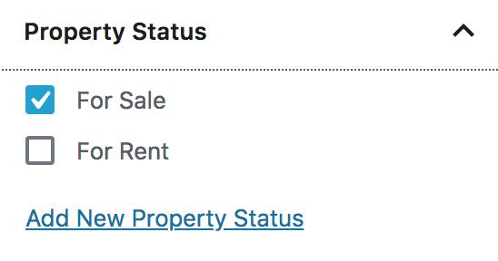 Status da propriedade