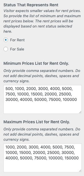Preços Mínimo e Máximo