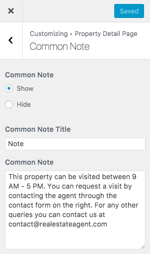 Configurações de notas comuns