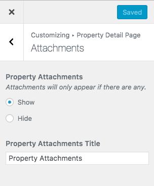 Anexos de propriedades na página de detalhes da propriedade