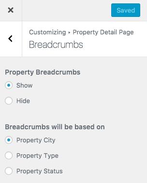 Pão na página de detalhes da propriedade