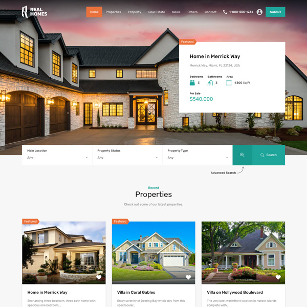 Real Homes – Real Estate WordPress Theme